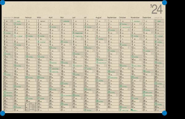 Graspapierkalender GHP14GL