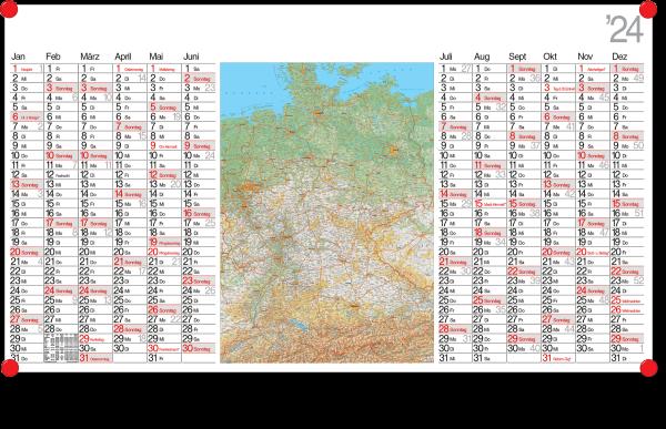 Landkartenkalender LK12